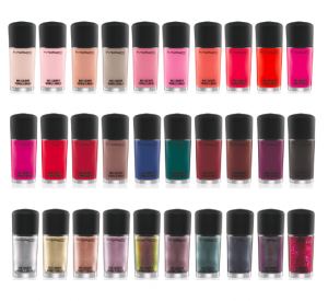 MAC permanent nail colors