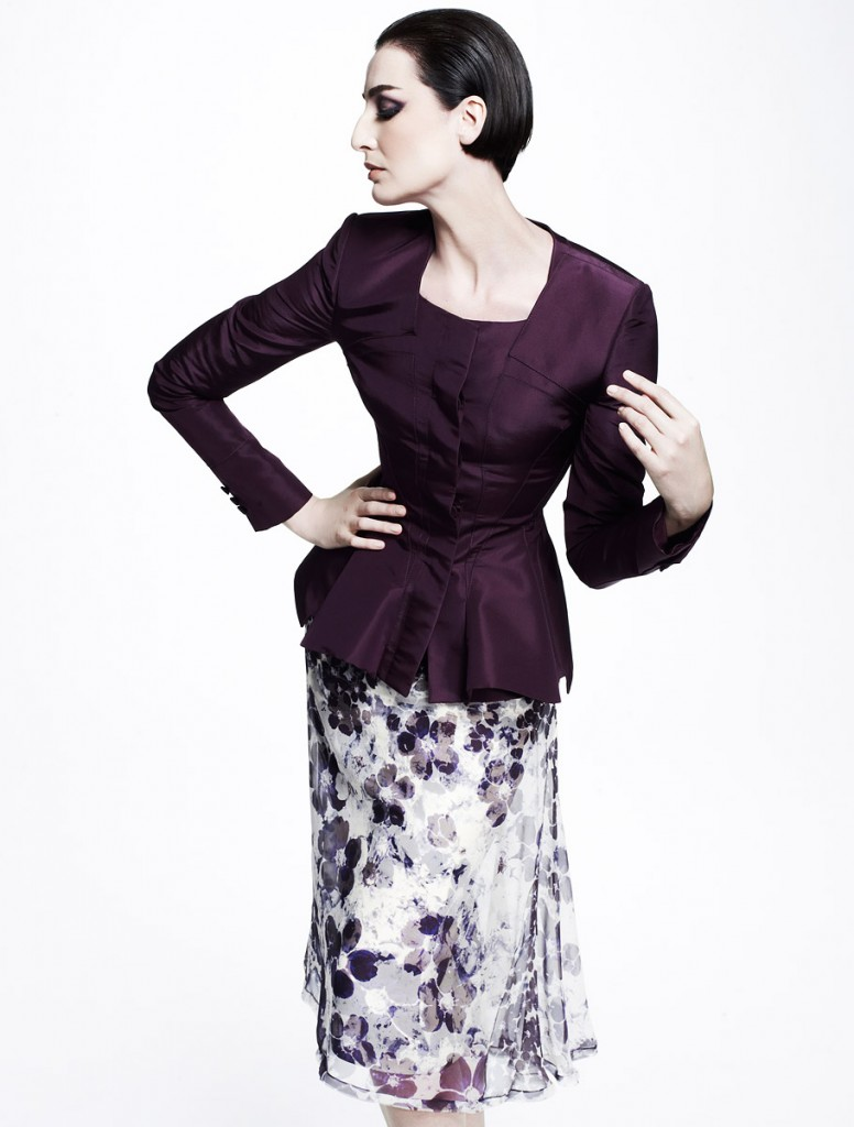 zac posen purple coat