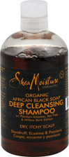 Organic African Black Soap Deep Cleansing Shampoo for Dry, Itchy Scalp