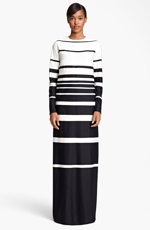 MARC-JACOBS-Stripe-Silk-Jersey-Gown