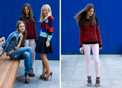 Joseph Altuzarra's distressed Breton-striped sweater for J.Crew, via Vogue.com