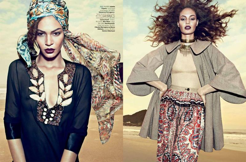 joan smalls scarf
