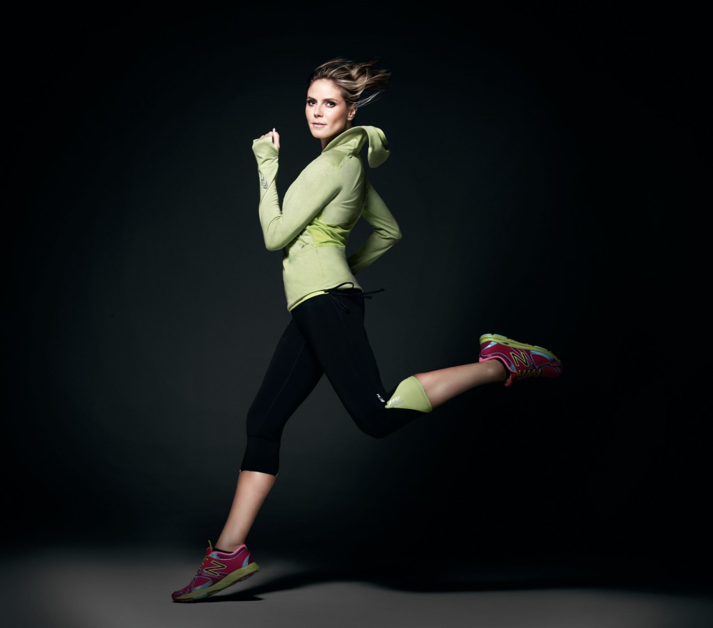 heidi klum, lady foot locker, new balance, new balance spring 2013, running shoes for women, active wear for women, heidi klum fashion line, heidi klum active wear