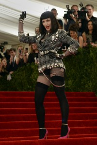 Madonna in Givenchy Haute Couture's tartan and studs