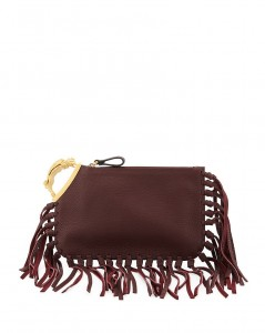 Valentino Gryphon Finger Fringed Clutch