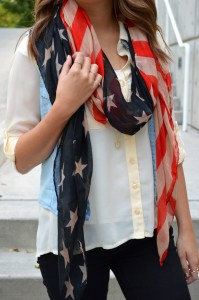 American Flag Scarf, American Flag, Flag Scarf, Boho look, Patriotic Outfit, America, Fourth of July Outfit